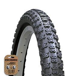 KENDA BMX / MX Style Cycle Tire  - Comp 3 Tread - FREE VALVE