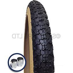 """BMX Tire  20"""" x 1.75 - Compe 3 Tread Pattern - Black tread w"""
