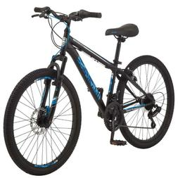 Boys Black Mountain Bike Mongoose Excursion 24 inch Wheel 21
