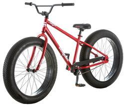 "26"" Mongoose Men's Brutus Fat Tire Bike, Red"