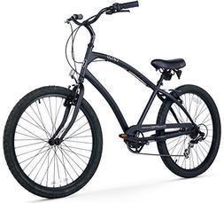 Firmstrong Men's CA-520 Alloy 7-Speed Beach Cruiser Bicycle,
