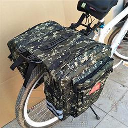 Pretty-jin Canvas Bicycle Rear Seat Bag Enlarged Mountain Bi