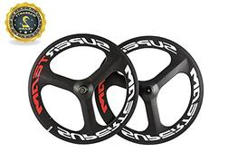 Superteam 70mm Full Carbon 3 Spoke Wheel T700c Clincher Whee
