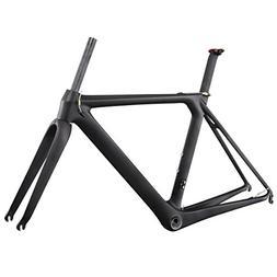 ICAN Full Carbon Aero Road Bike Frameset BB86 UD Matt 52cm