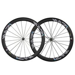 ICAN 50mm Carbon Clincher Wheelset Racing Bike Novatec Strai