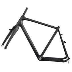 ICAN Carbon Cyclocross Road Bike Frame with Fork BSA Cantile