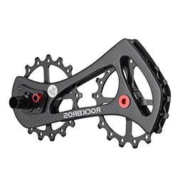 RockBros Carbon Fiber Bike Rear Derailleur Pulleys Ceramic B