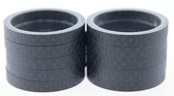 """FSA 10qty 5mm 1-1/8"""" 3K Carbon Headset Spacers 50mm Total Ro"""