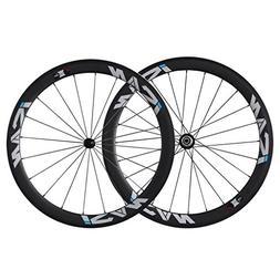 ICAN 50mm Carbon Road Bike Wheels 700C Clincher Sapim CX-Ray