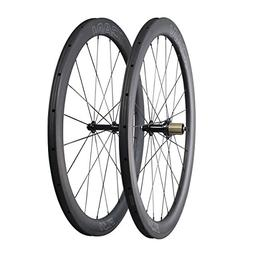 ICAN Carbon Road Bike Wheelset 25mm Wide 50mm Deep Clincher