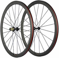 Carbon Road Wheels 38mm Road Bike Carbon Wheelset Clincher 7