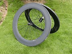 Full Carbon 3K Matt Road Bike Tubular Wheel Rim 88mm Basalt