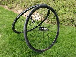 Full Carbon UD Matt Road Bike Tubular Wheel Rim 38mm Basalt