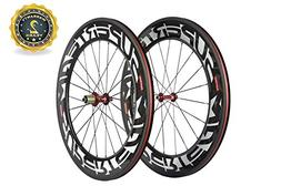 Superteam 88mm Carbon Wheelset 700c Clincher Bicycle Wheel w
