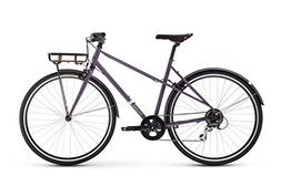 Raleigh Bikes Carlton 8 Mixte Women's City Bike, Purple, 48c