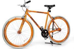 Caraci CBF1AL53OR Aluminum Frame Fixed Gear Bike, Orange, 53
