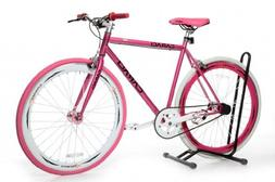 Caraci CBF2ST53PK Steel Frame Fixed Gear Bike, Pink, 53cm