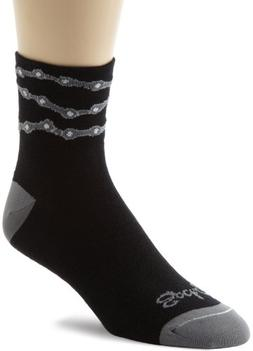 SockGuy Men's Chains Socks, Black, L-XL/9-13 Men