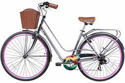 Gama Bikes Women's City Avenue Step-Thru 7 Speed Shimano Roa