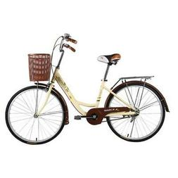 City Road Bike for Female 24 Inch Vintage Bicycle for Women