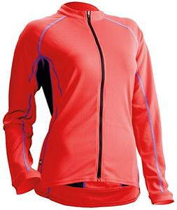 Cannondale Women's Classic Long Sleeve Jersey Large Coral Re