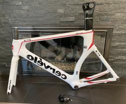 CLEAN! Cervelo P3 White Carbon 58cm Bike Frameset Frame Fork