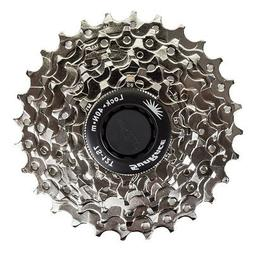 Sunrace CS-M63 Cassette, 7 Speed, 12-28T, Nickle
