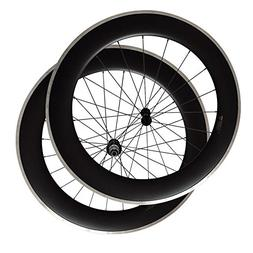 CSC 700C 23mm or 25mm width 80mm deep clincher bike wheelset