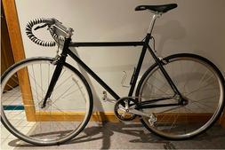 Custom 53cm IRO Fixed Gear Steel Road Bike w/ Flip Flop Hub