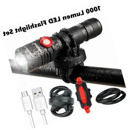 Cycle Torch 1000 Lumens USB Rechargeable Bicycle Ultra Light