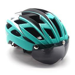 Cycling Bicycle Helmet with Detachable Magnetic Goggles Viso