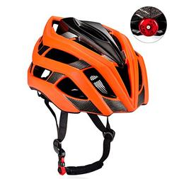 KUYOU Adult Cycling Bike Helmet with Safety Light Adjustable