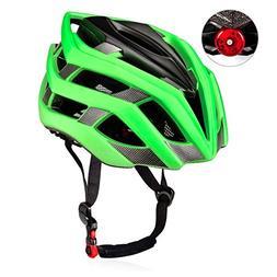 KUYOU Adult Cycling Bike Helmet with Safety Light Adjustable