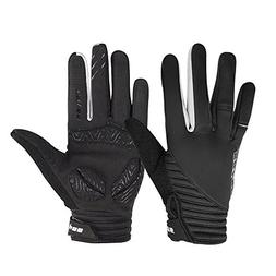 Lukovee Cycling Gloves, Windproof Smart Phone Touch Screen S
