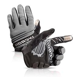 LYCAON Cycling Gloves, Silicone Gel Padded, EVA Cushion, Tou
