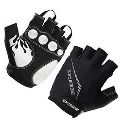 SEEBIKE Cycling Gloves Fingerless Bicycle Gloves for Men Boy