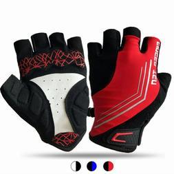Cycling Half Finger Gloves Sport Gel Gloves Breathable Road