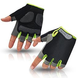 HuwaiH Cycling Gloves Men's/Women's Mountain Bike Gloves Hal