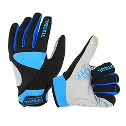 JUSTKIT Cycling Gloves -Touch Screen Full Finger Bike Gloves