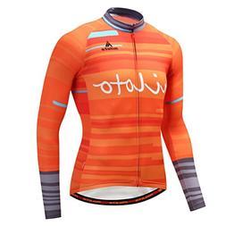 Uriah Men's Cycling Jersey Long Sleeve Reflective Waves Oran