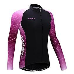 Santic Women's Cycling Jersey Loog Sleeve Road Bike Jersey J