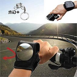 Yopoon Bike Wrist Rear View Mirror, Adjustable Bicycle Wrist
