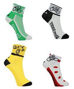 LIN Cycling Socks Bike Jersey Socks Yellow Green White red p