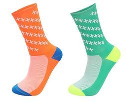 Bigfit Men's Cycling Socks Sports Running Socks 2 pairs for