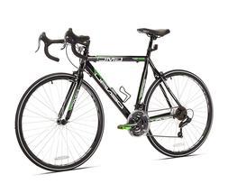 GMC Denali 21-Speed Road Bike, Black/Green, 20-Inch/Small, H