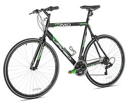 GMC Denali Flat Bar Road Bike, 25-Inch/63.5cm/X-Large, Black