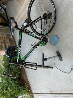 denali road bike 700c black green medium
