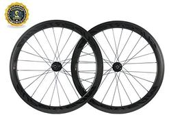 Superteam Carbon Fiber Road Disc Brake Wheelset 50mm Clinche