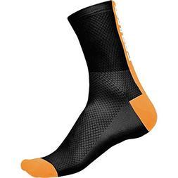 Castelli Distanza 9 Sock Black/Orange, L/XL - Men's