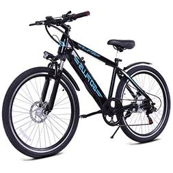 Goplus 26inch Electric Mountain Bicycle EBike Speed with Rem